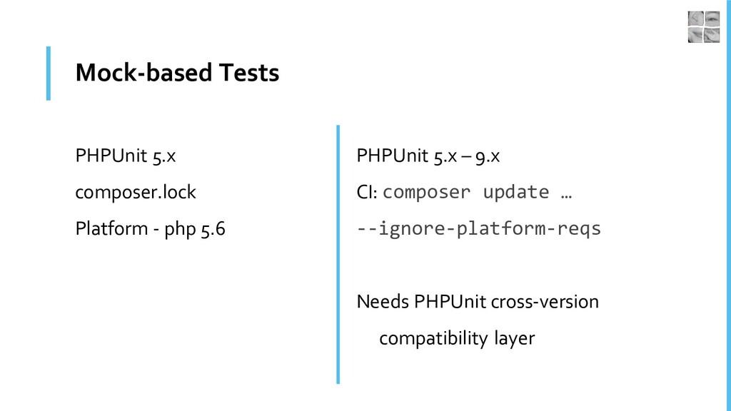 Mock-based Tests PHPUnit 5.x composer.lock Plat...