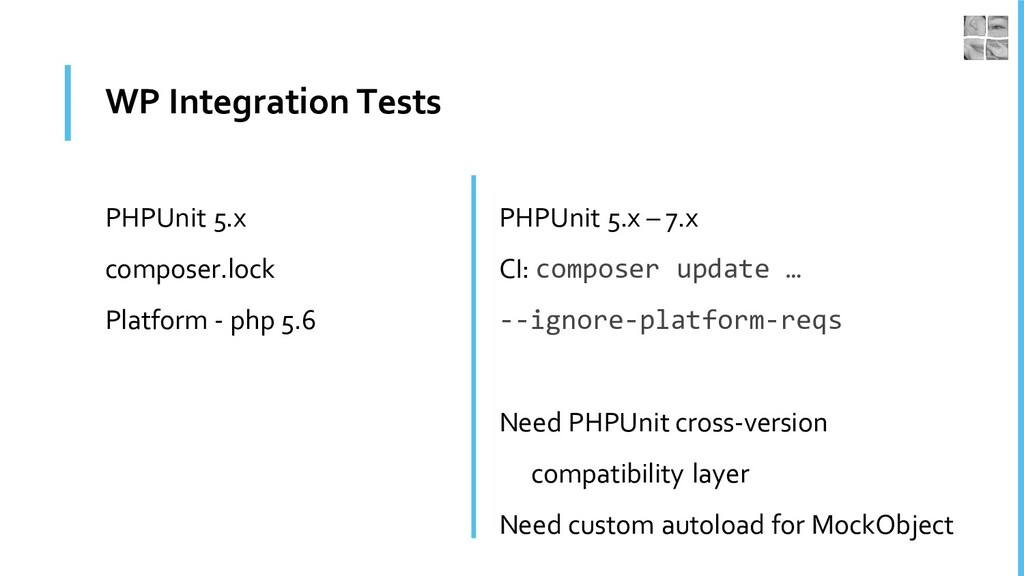 WP Integration Tests PHPUnit 5.x composer.lock ...