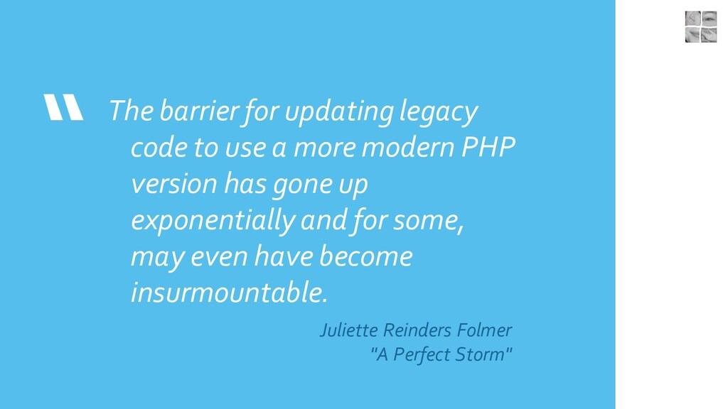 """ The barrier for updating legacy code to use a..."