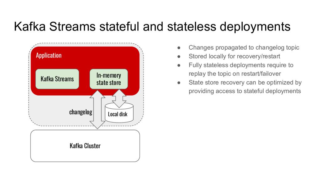 Kafka Streams stateful and stateless deployment...