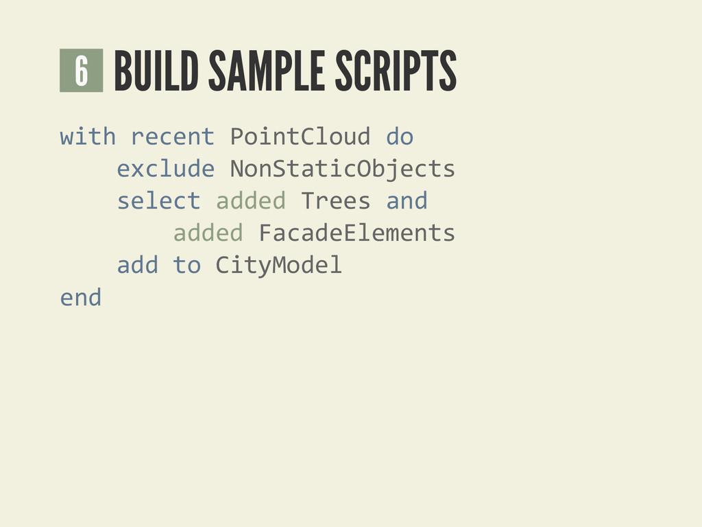 BUILD SAMPLE SCRIPTS 6 with recent PointCloud d...