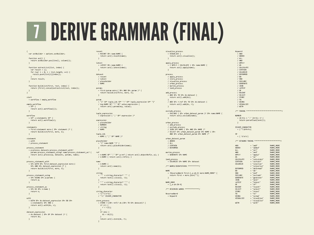 DERIVE GRAMMAR (FINAL) 7 { <<var<ast'uilder<R<o...