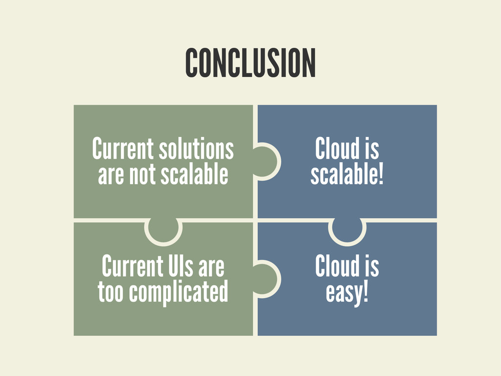 CONCLUSION Cloud is scalable! Current UIs are t...