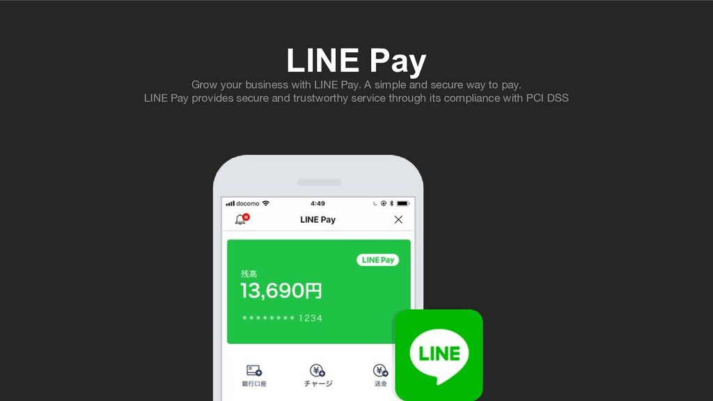 LINE Pay Grow your business with LINE Pay. A si...
