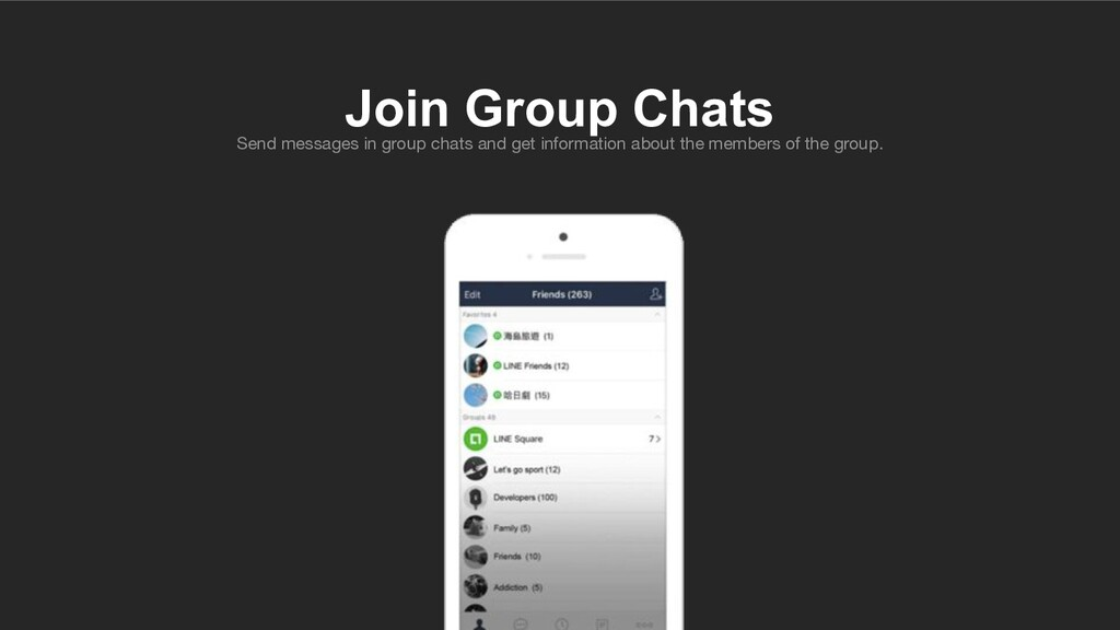 Send messages in group chats and get informatio...