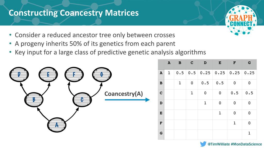 Constructing Coancestry Matrices A B C E ...