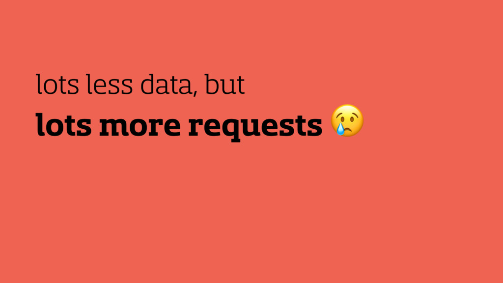 lots more requests  lots less data, but