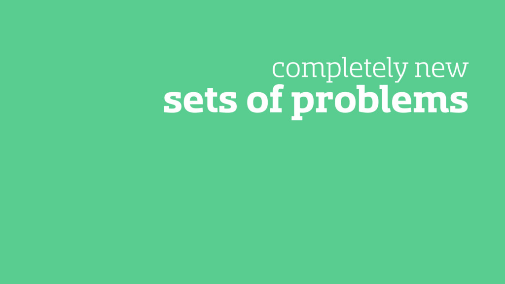 sets of problems completely new