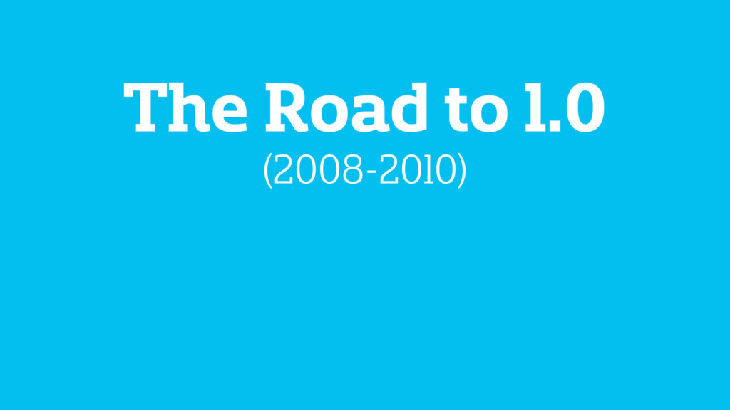 The Road to 1.0 (2008-2010)