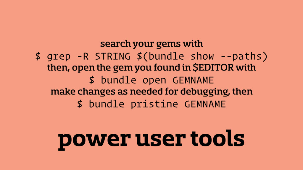 power user tools search your gems with $ grep -...