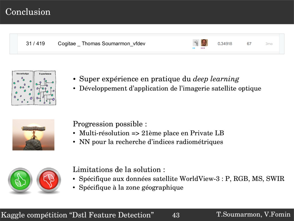 T.Soumarmon, V.Fomin Conclusion Progression pos...