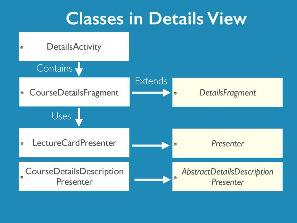 LectureCardPresenter DetailsActivity CourseDeta...