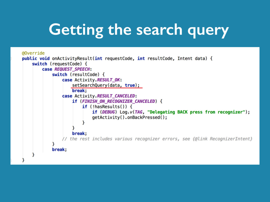 Getting the search query
