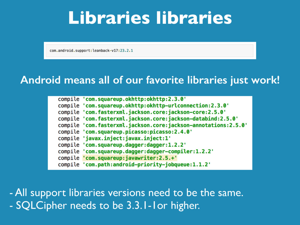 Libraries libraries - All support libraries ver...