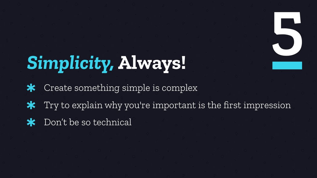 Simplicity, Always! Create something simple is ...