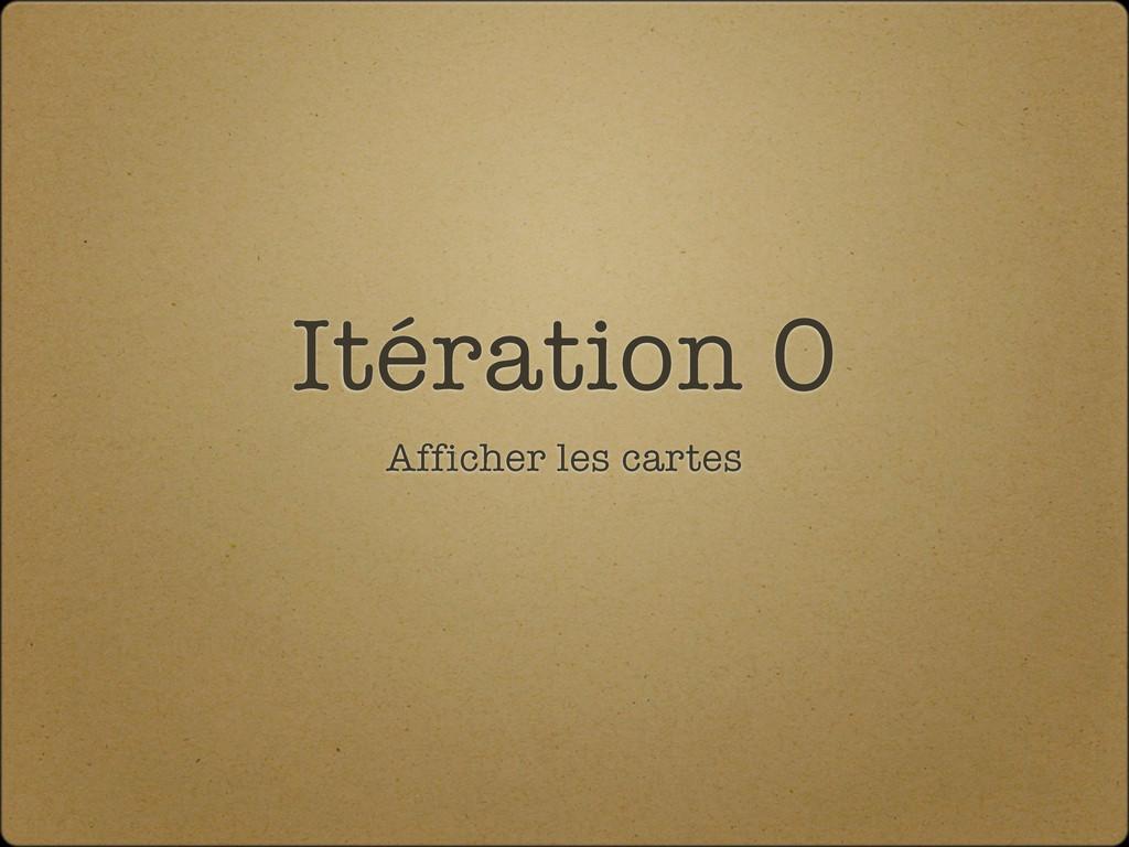 Itération 0 Afficher les cartes