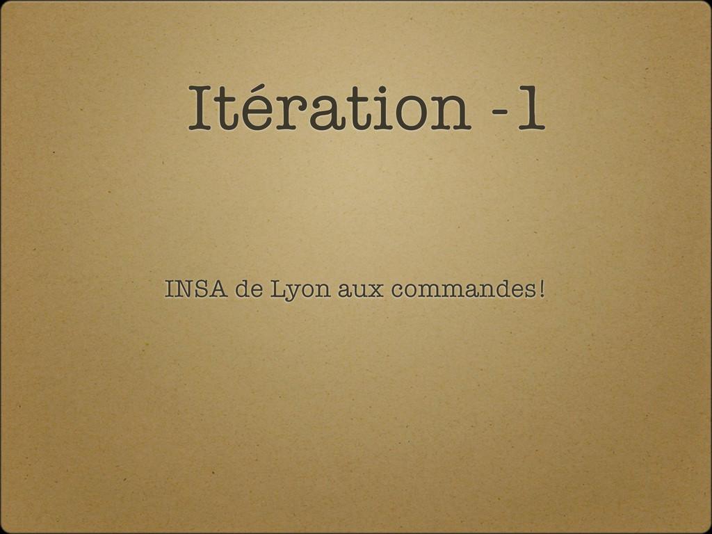 Itération -1 INSA de Lyon aux commandes!