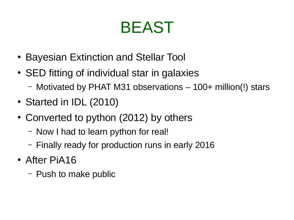 BEAST ● Bayesian Extinction and Stellar Tool ● ...