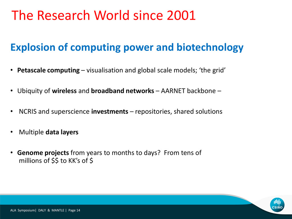 Explosion of computing power and biotechnology ...
