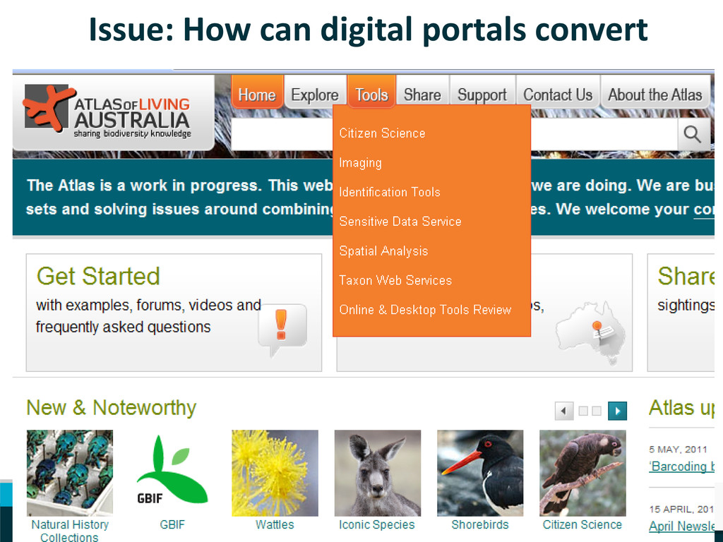 Issue: How can digital portals convert Leading ...