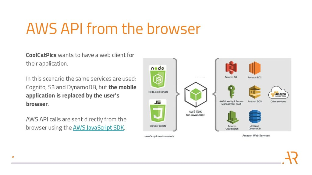 AWS API from the browser CoolCatPics wants to h...