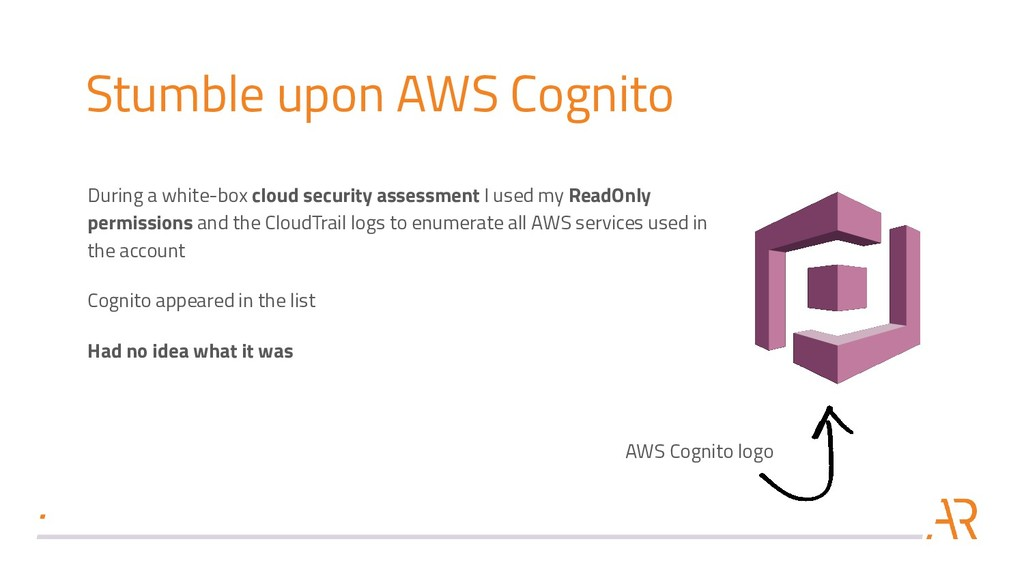 Stumble upon AWS Cognito During a white-box clo...
