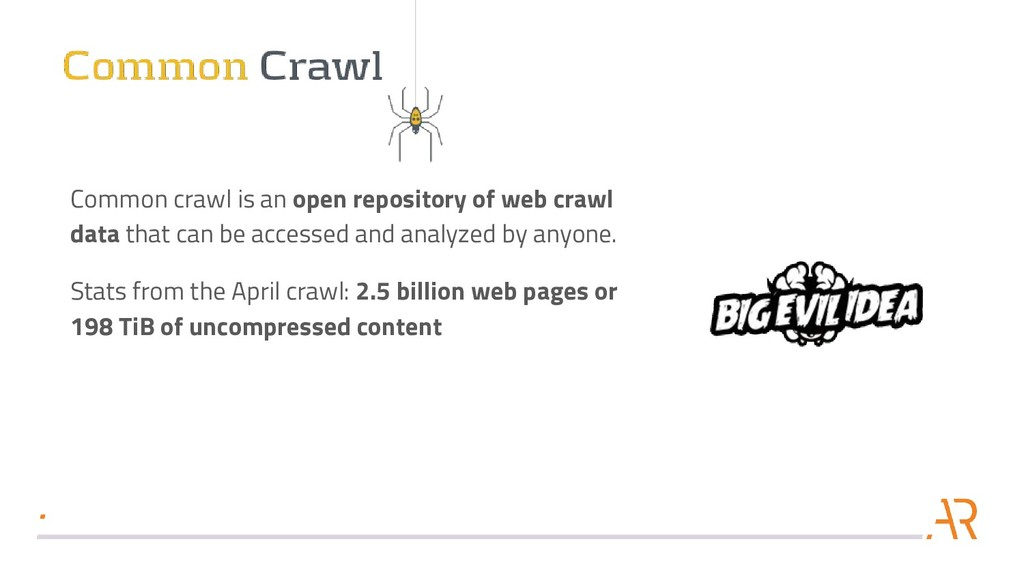 Common crawl is an open repository of web crawl...