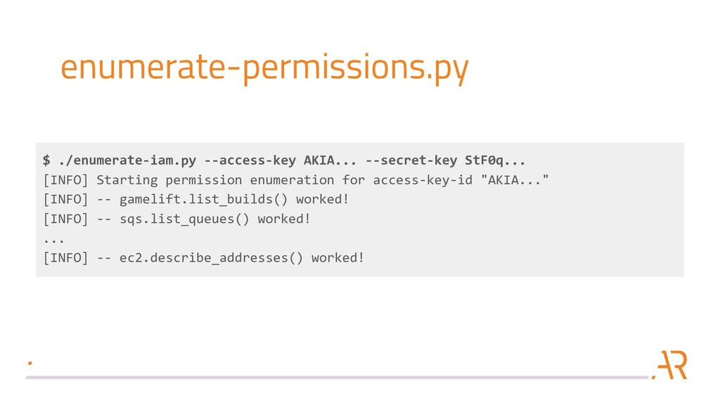 enumerate-permissions.py $ ./enumerate-iam.py -...