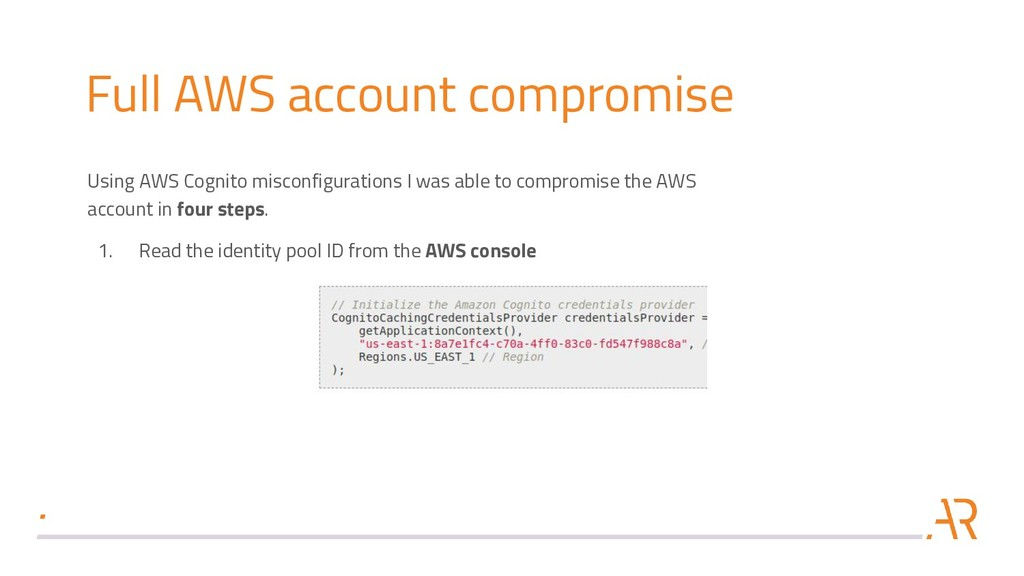 Full AWS account compromise Using AWS Cognito m...