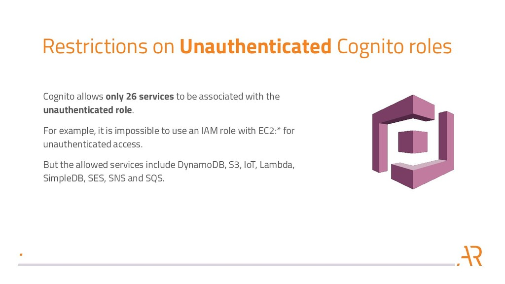 Restrictions on Unauthenticated Cognito roles C...