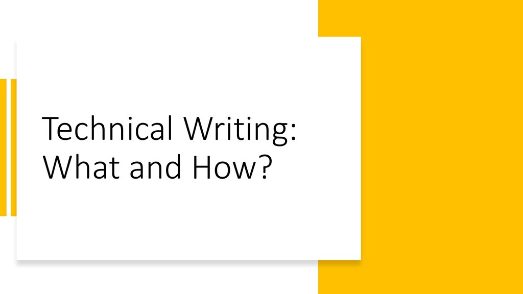 Interswitch - INTERNAL Technical Writing: What ...