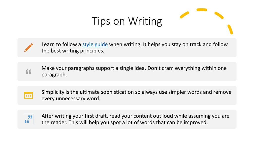 Interswitch - INTERNAL Tips on Writing Learn to...