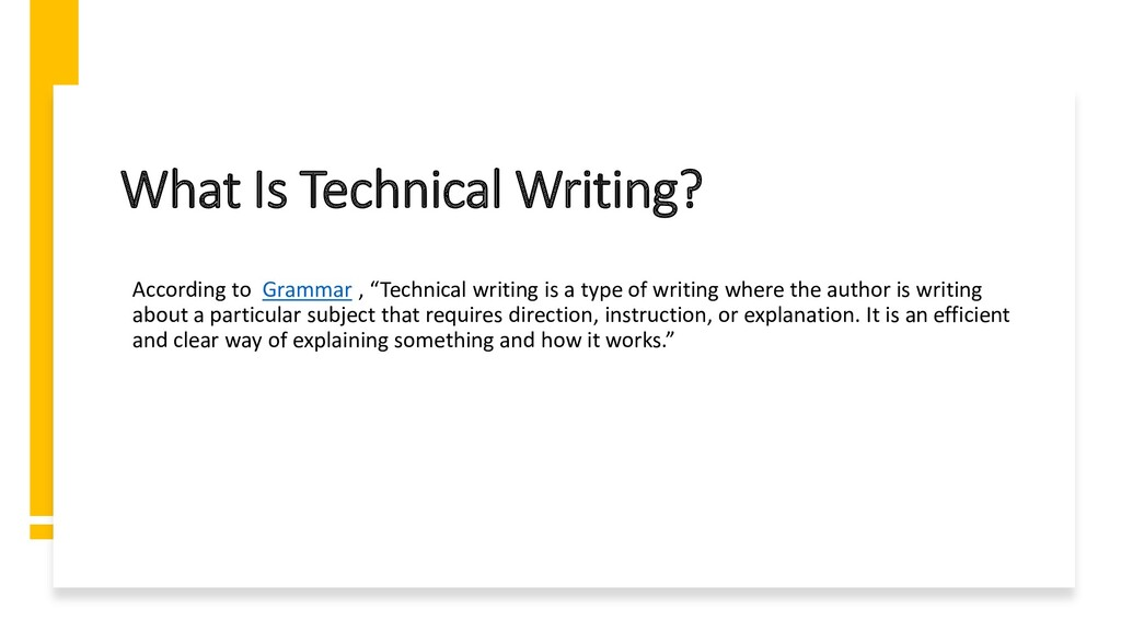 Interswitch - INTERNAL What Is Technical Writin...