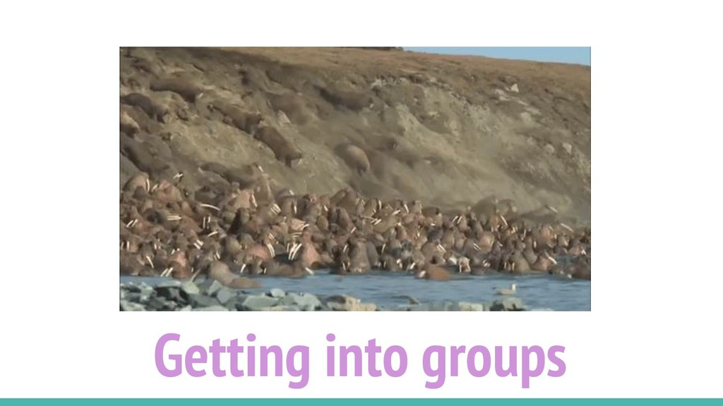 Getting into groups