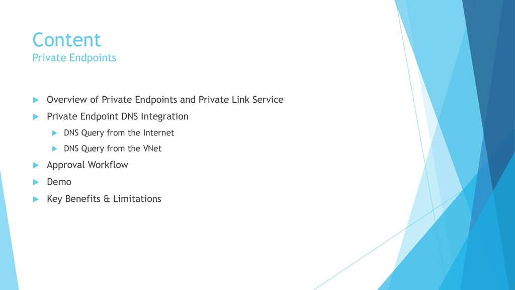 Content Private Endpoints  Overview of Private...