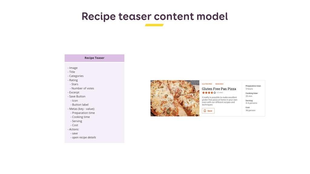 Recipe teaser content model Stéphanie Walter - ...