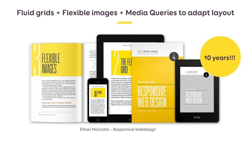 Fluid grids + Flexible images + Media Queries t...