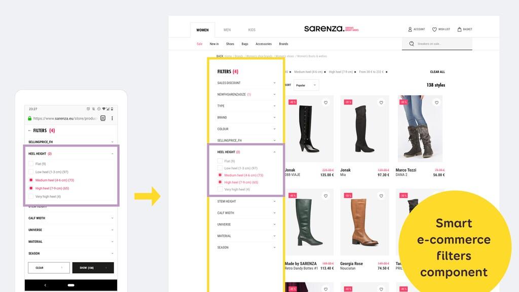 Smart e-commerce filters component
