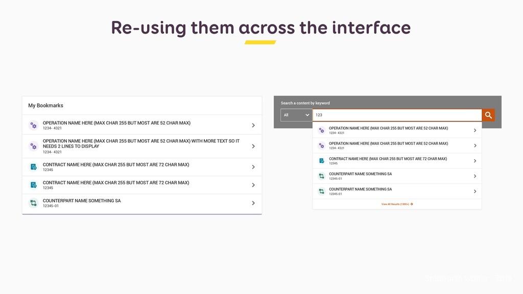 Re-using them across the interface Stéphanie Wa...