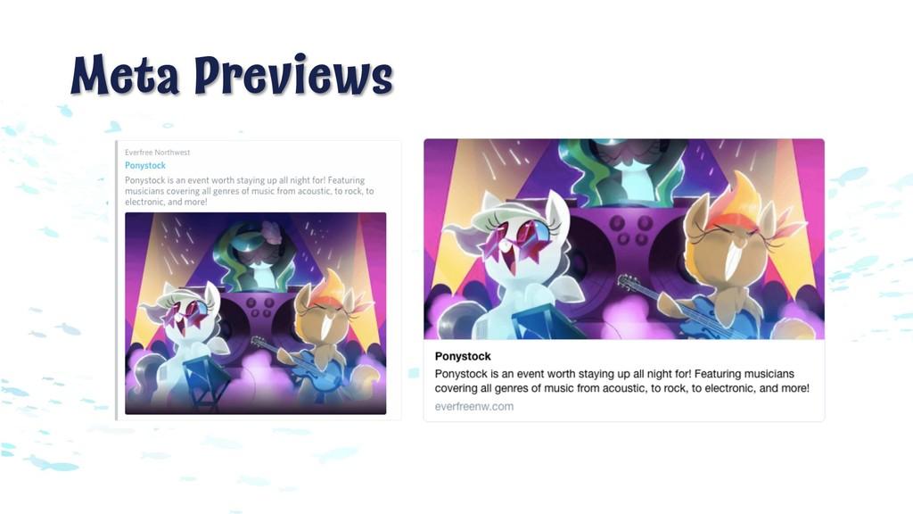 Meta Previews