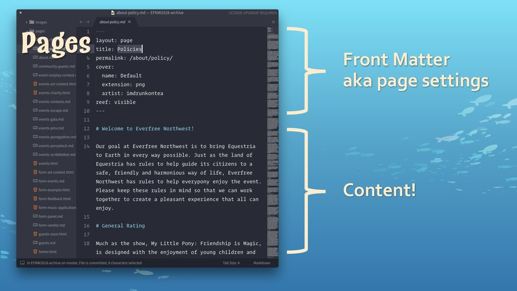 Front1Matter aka1page1settings Content! Pages