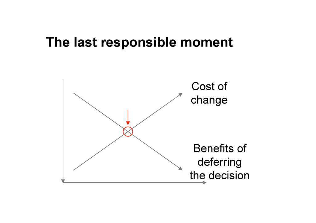 The last responsible moment Benefits of deferri...