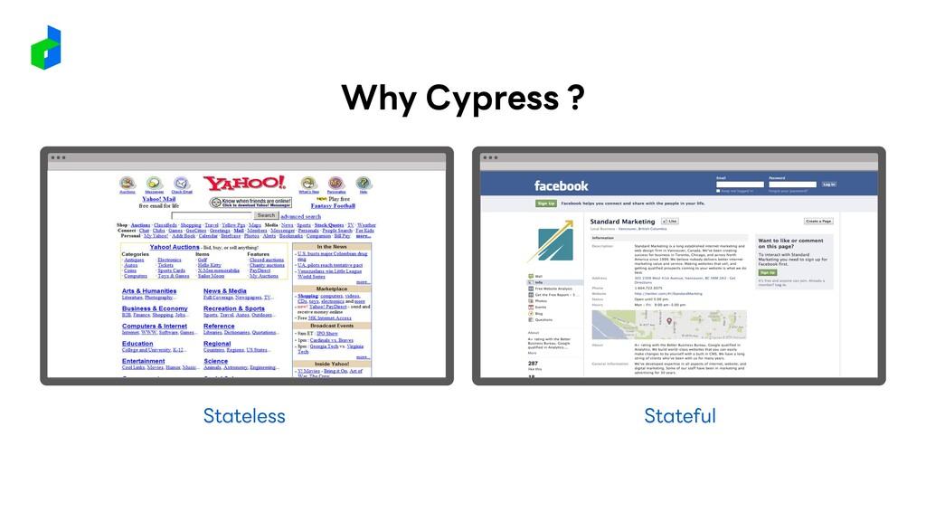 Stateless Stateful Why Cypress ?