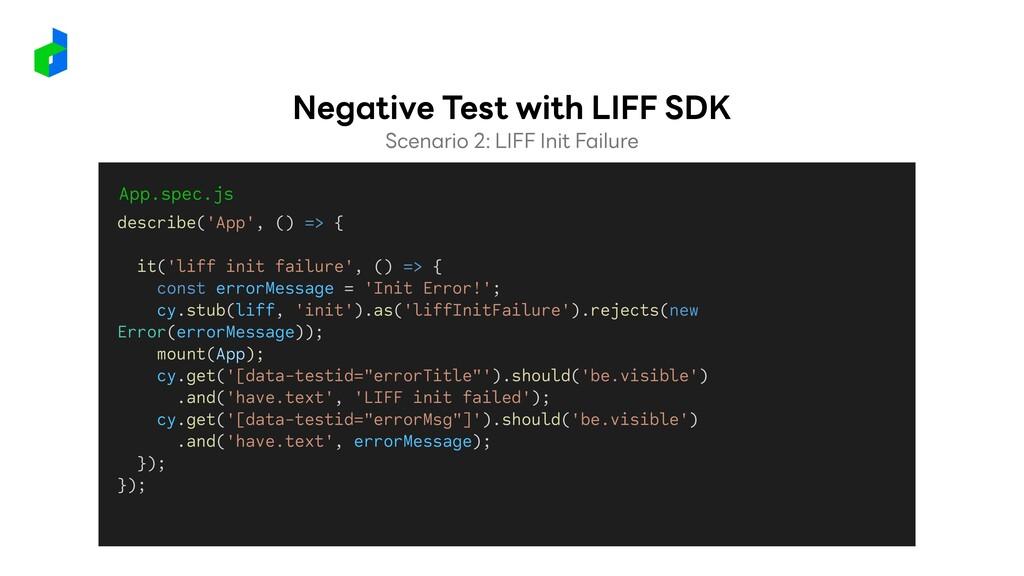 Scenario 2: LIFF Init Failure Negative Test wit...