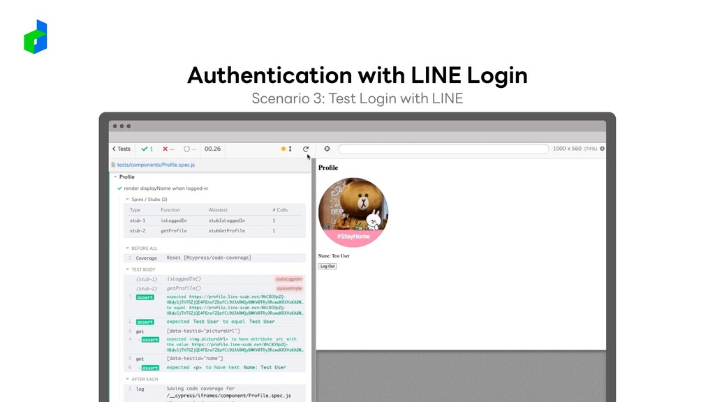 Scenario 3: Test Login with LINE Authentication...