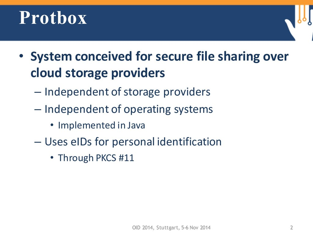 Protbox • System conceived for secure file shar...