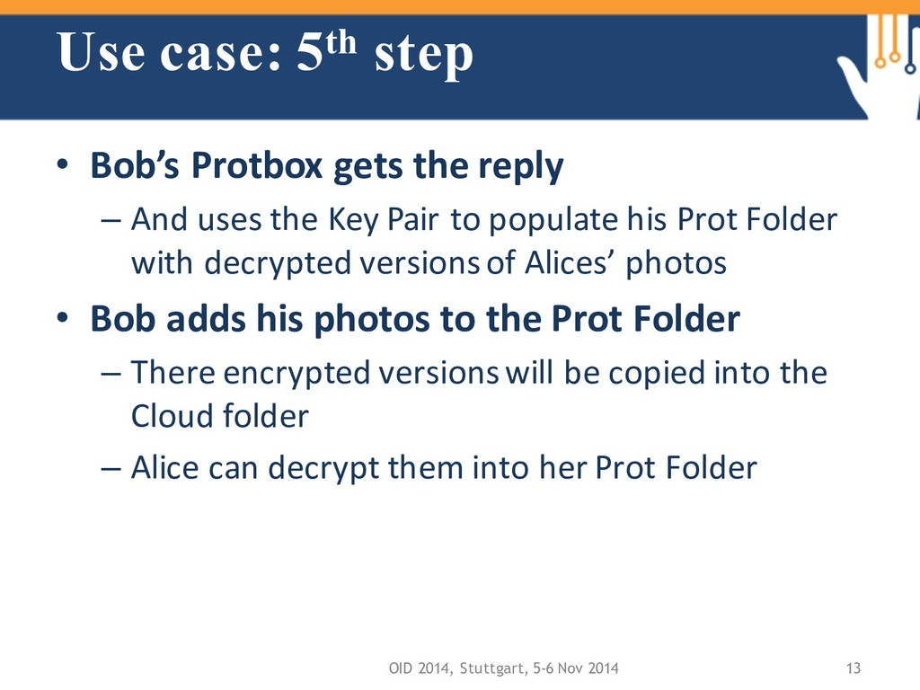 Use case: 5th step • Bob's Protbox gets the rep...