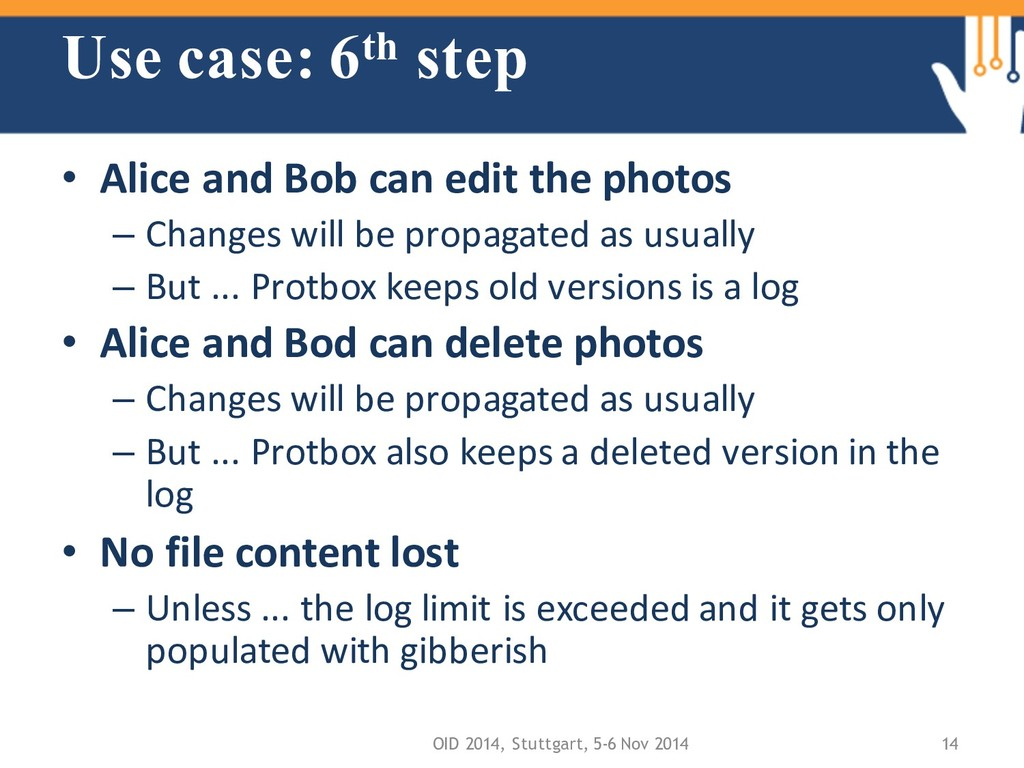 Use case: 6th step • Alice and Bob can edit the...