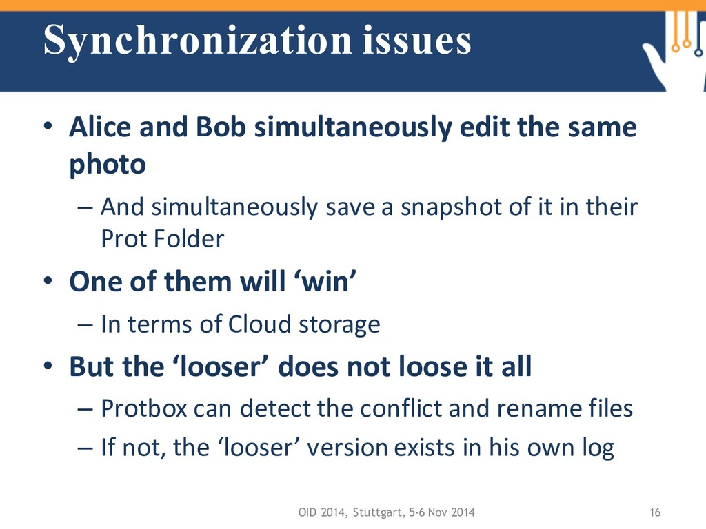 Synchronization issues • Alice and Bob simultan...