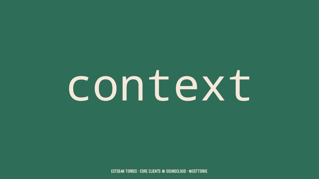 context Esteban Torres • Core Clients @ SoundCl...